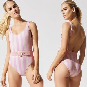 Solid & Striped Anne Marie Belt One Piece Small